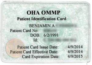 Oregon Medical Marijuana Program Card